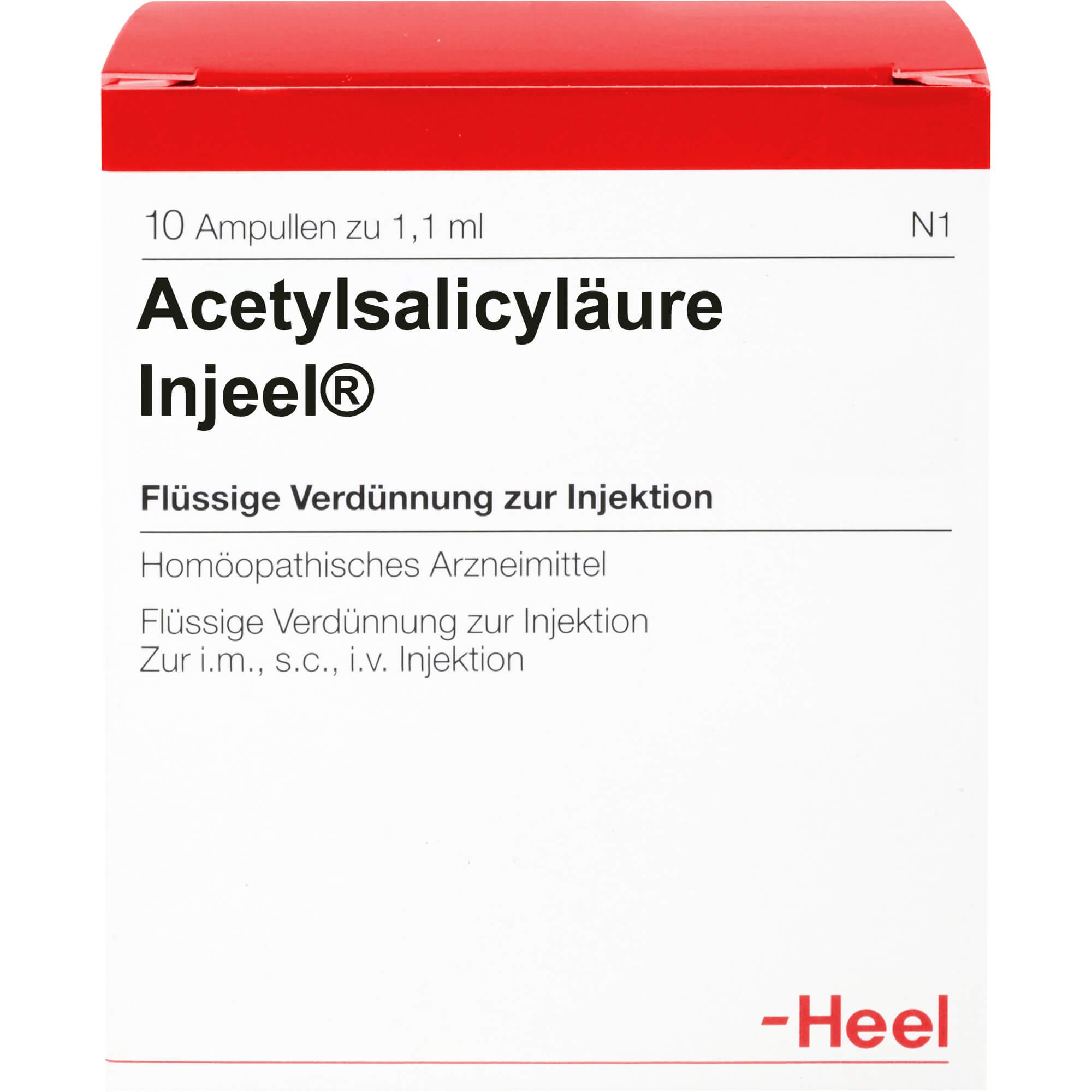 ACETYLSALICYLSAeURE-Injeel-Ampullen