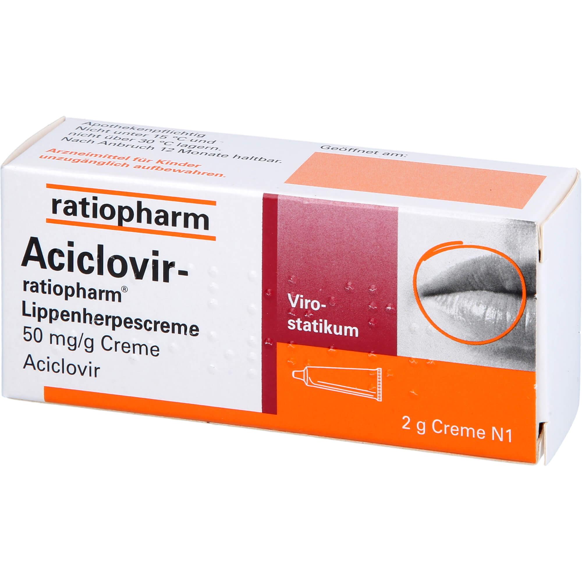 ACICLOVIR-ratiopharm-Lippenherpescreme