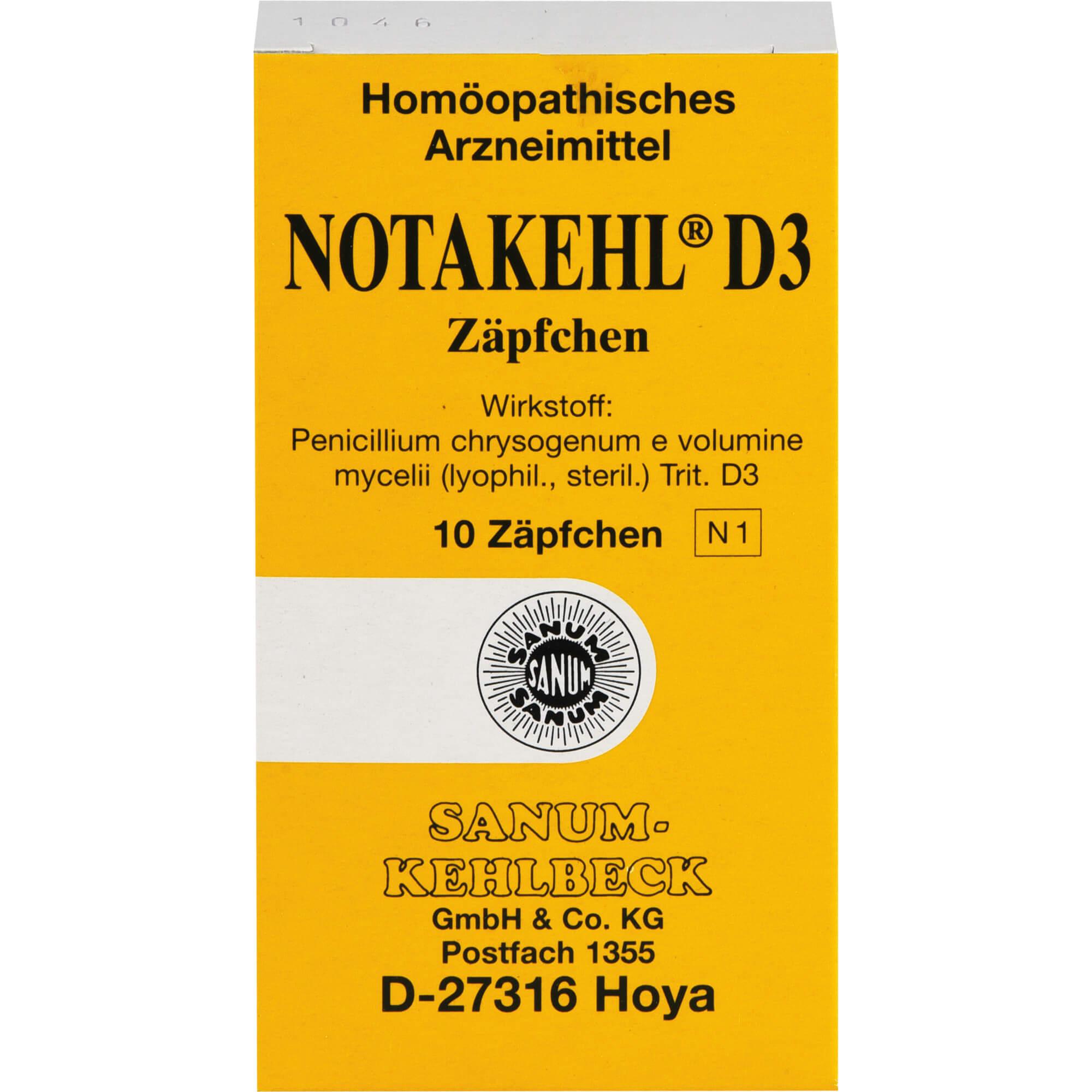 NOTAKEHL-D-3-Suppositorien