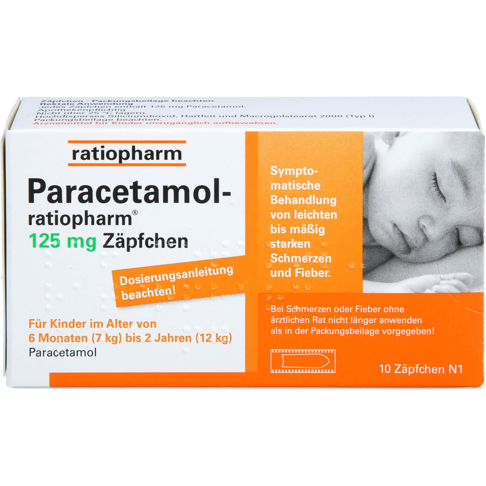 PARACETAMOL-ratiopharm-125-mg-Zaepfchen