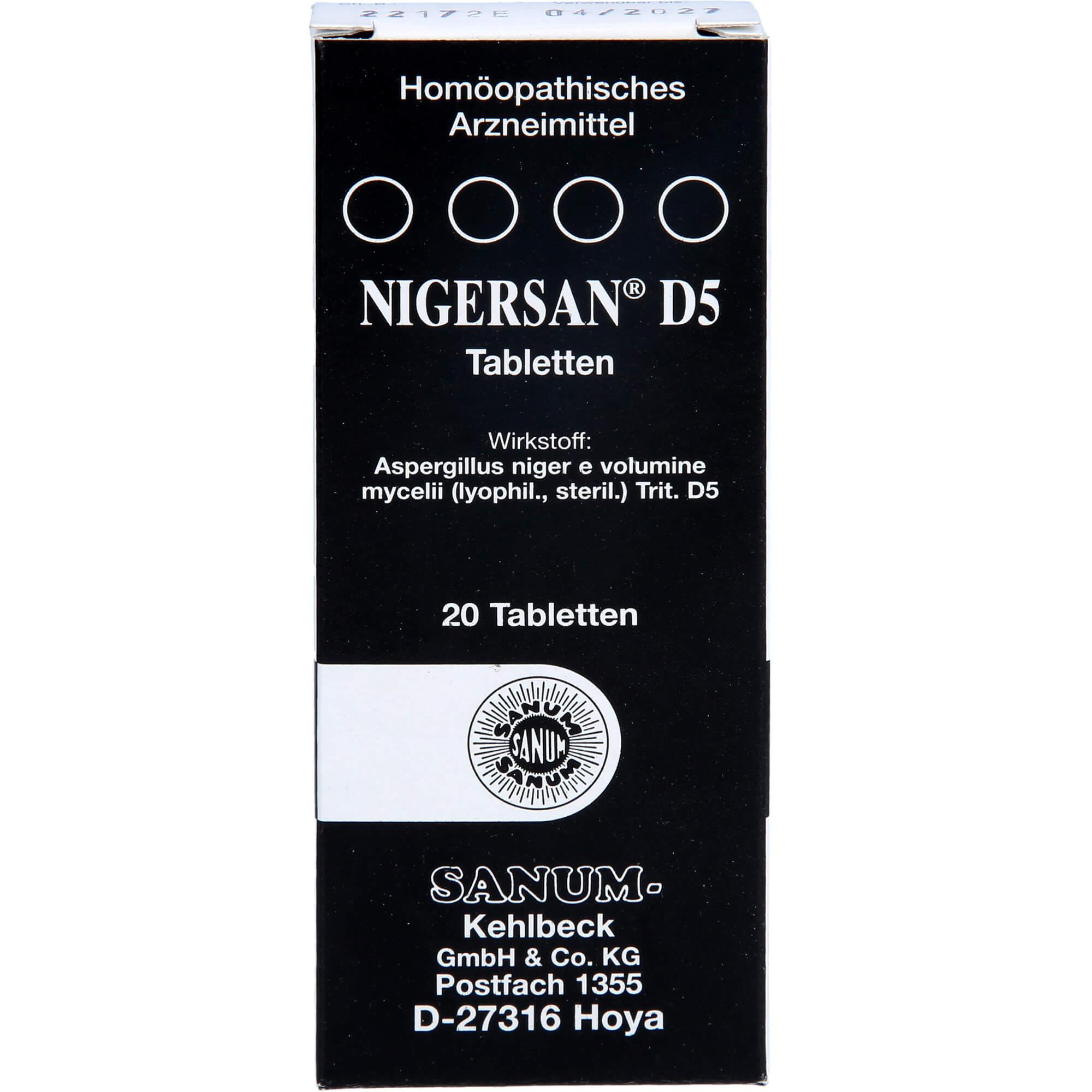 NIGERSAN-D-5-Tabletten