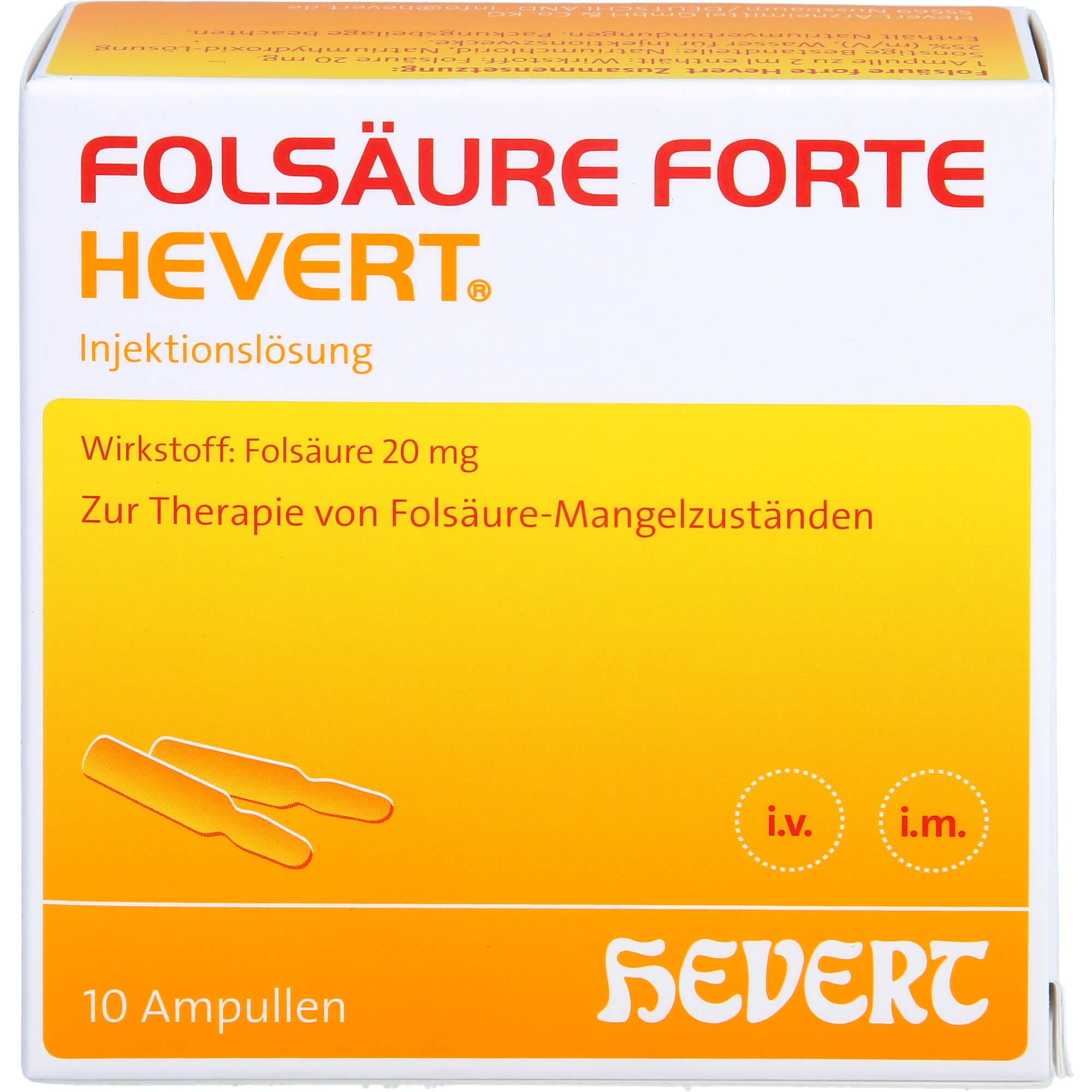 FOLSAeURE-HEVERT-forte-Ampullen