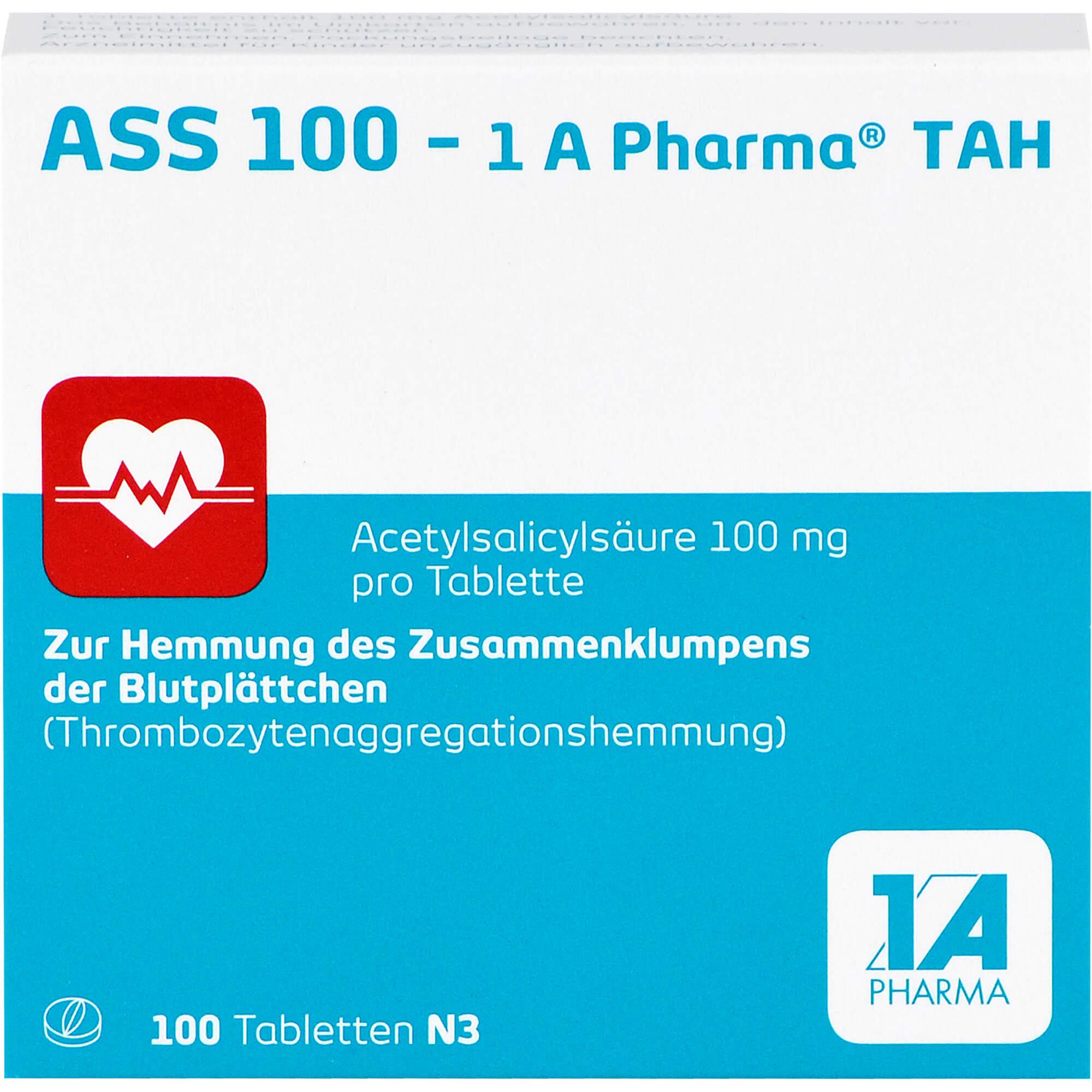 ASS-100-1A-Pharma-TAH-Tabletten