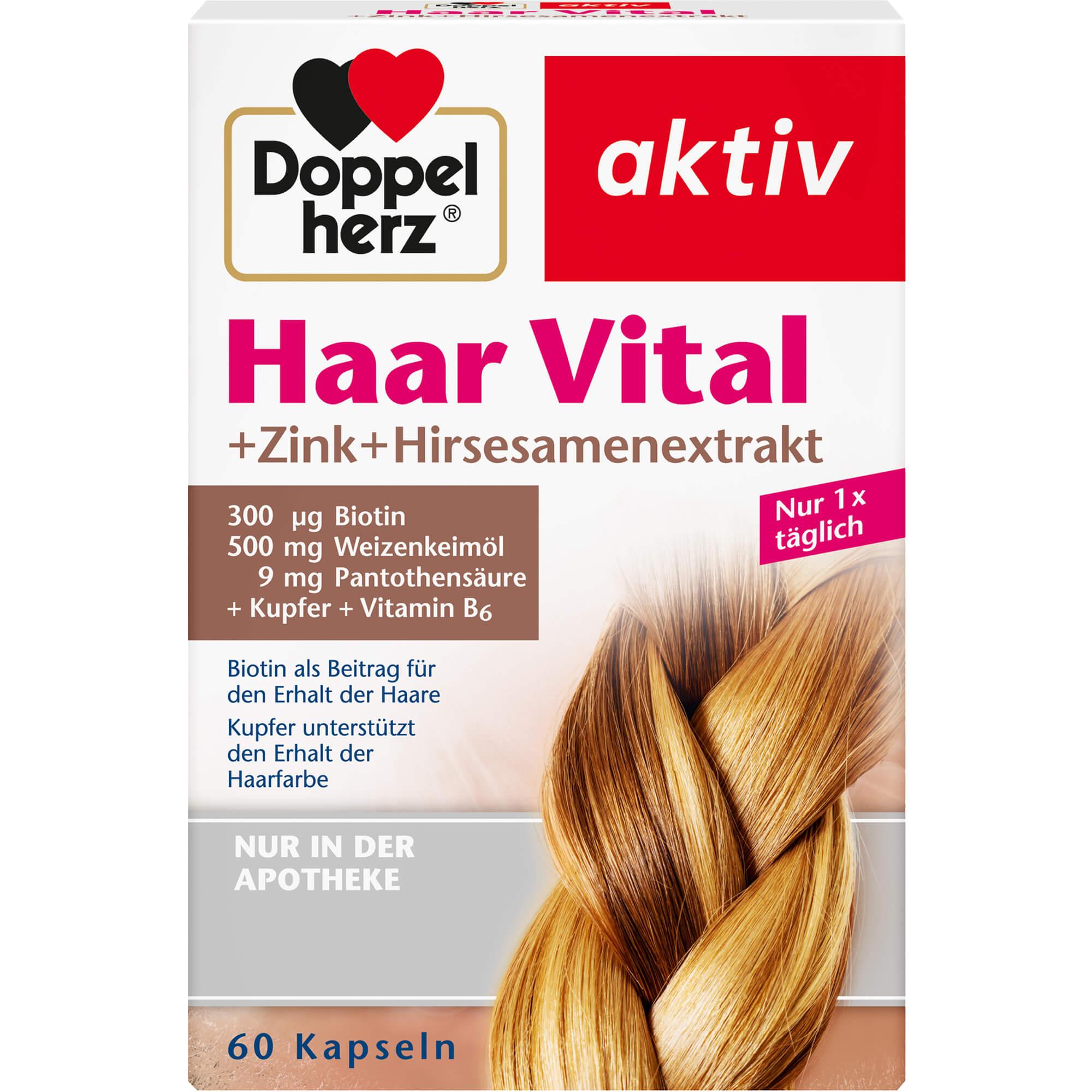 DOPPELHERZ-Haar-Vital-Zink-Hirseextrakt-Kapseln