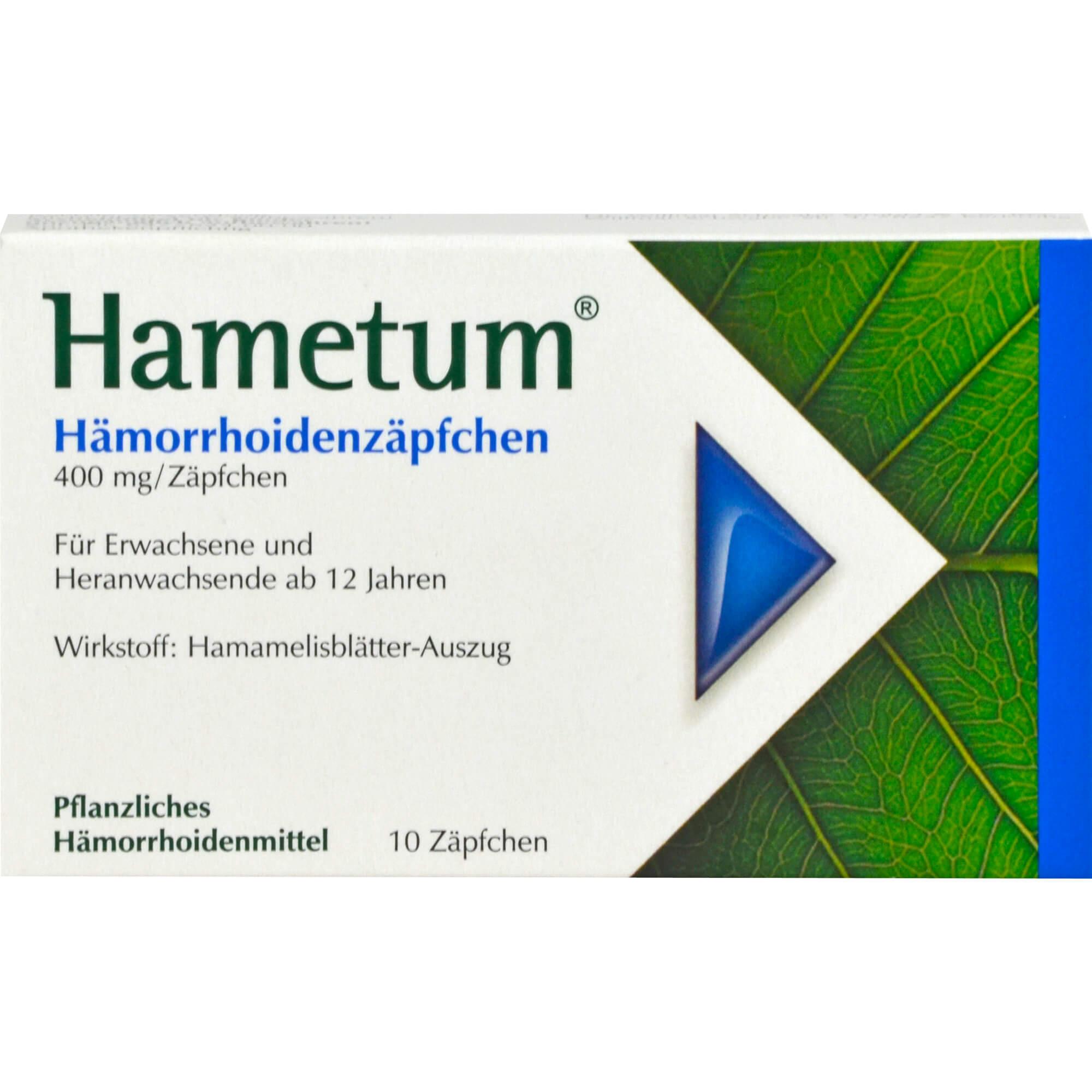 HAMETUM-Haemorrhoiden-Zaepfchen