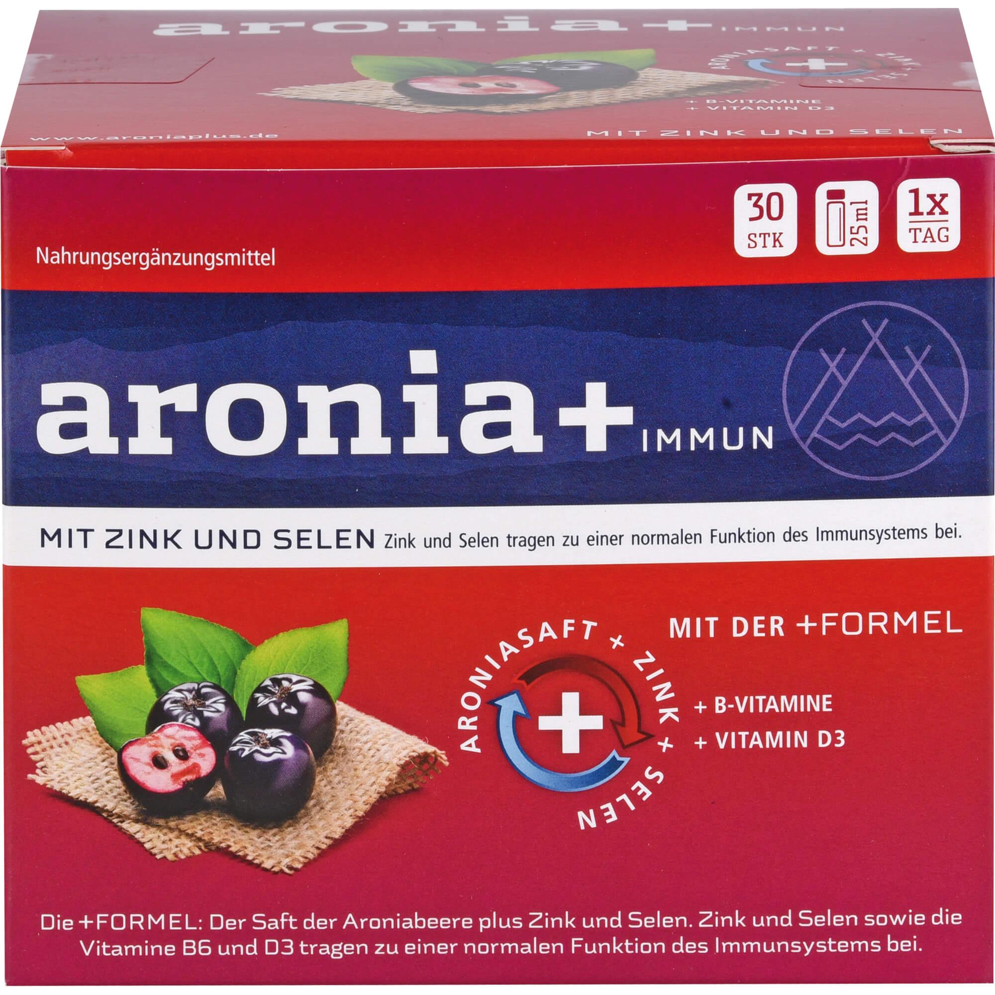 ARONIA-IMMUN-Monatspackung-Trinkampullen