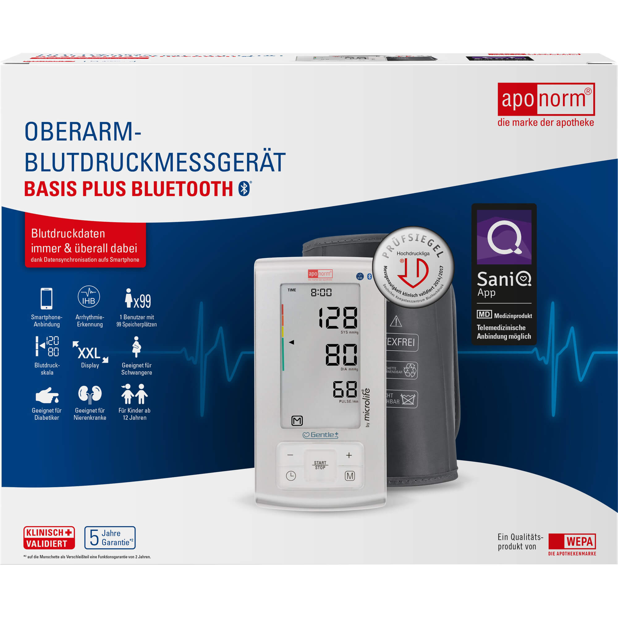 Aponorm-Blutdruckmessgeraet-Basis-Plus-Oberarm-Bluetooth
