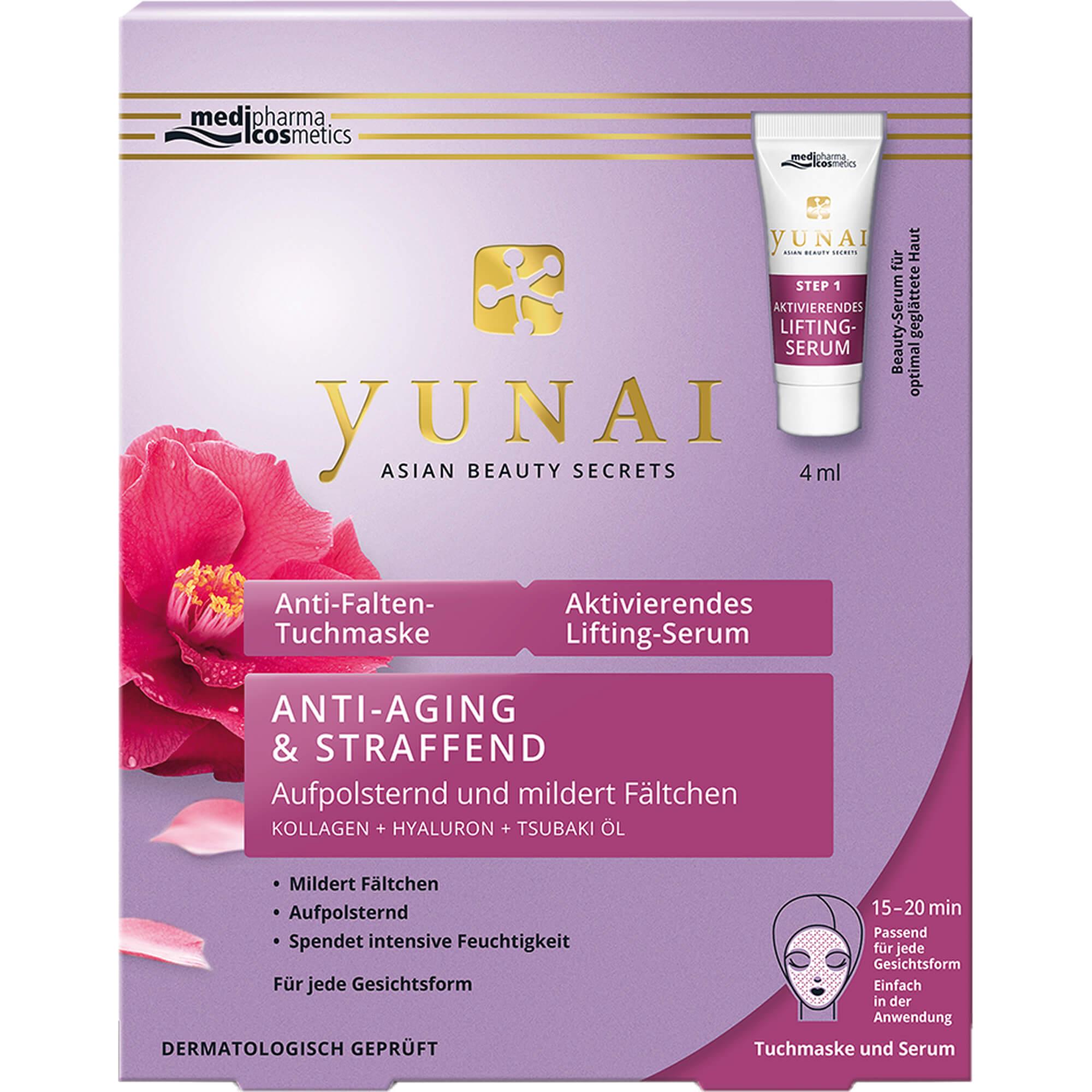 YUNAI-Anti-Falten-Maske-25g-aktivierendes-Lifting-Serum-4ml