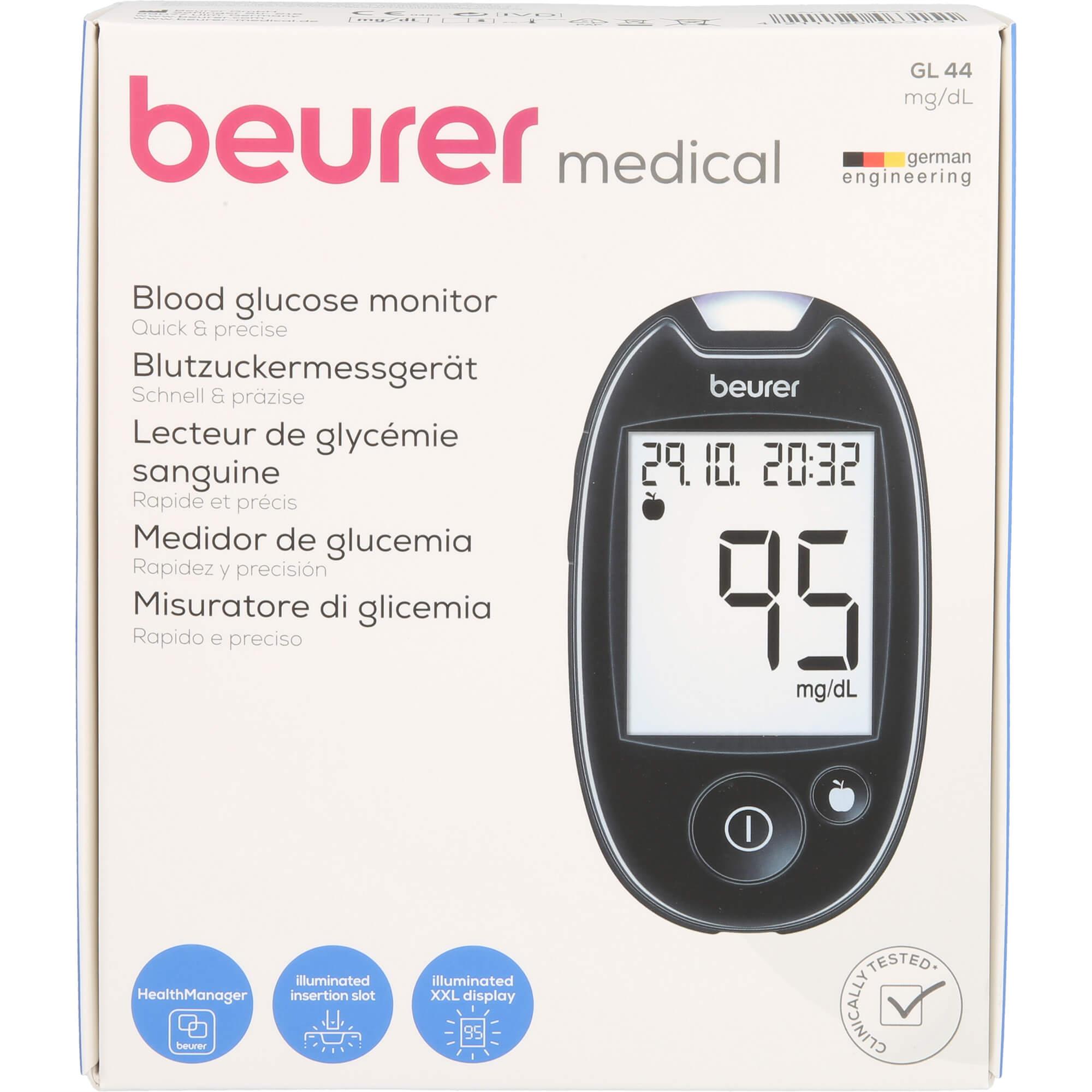 BEURER-GL44-Blutzuckermessgeraet-mg-dl