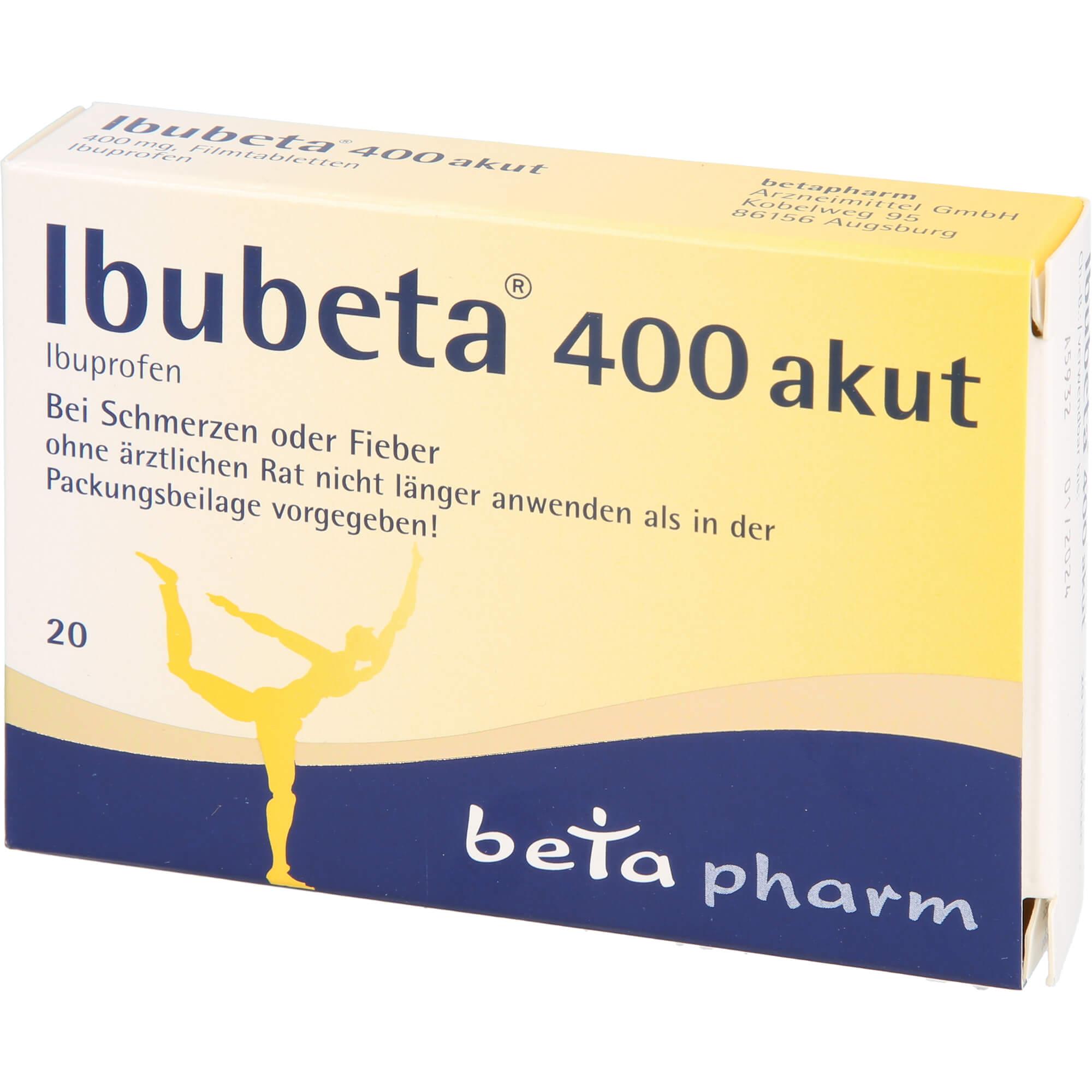 - IBUBETA 400 akut Filmtabletten - 20 St - 1,39 EUR