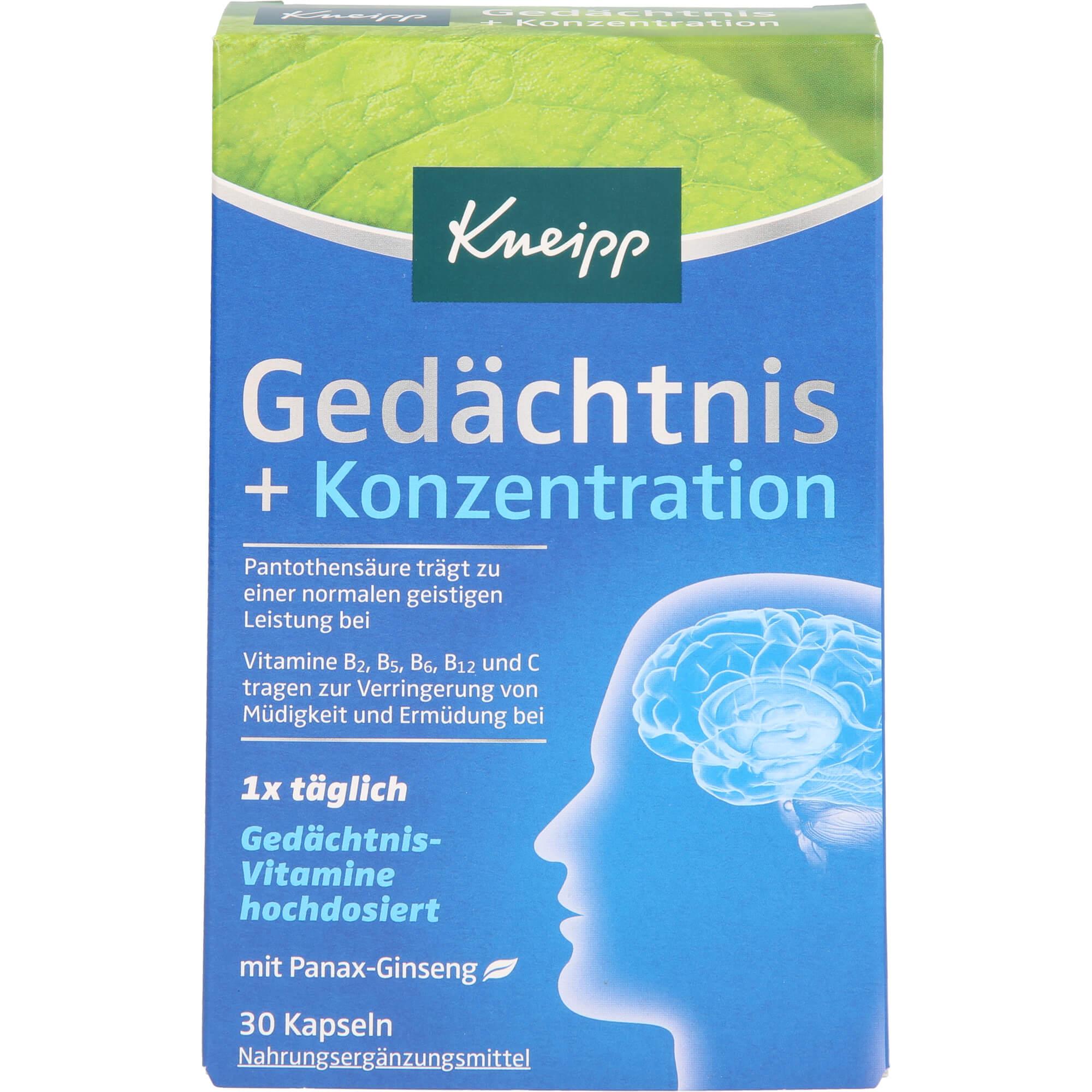 KNEIPP-Gedaechtnis-Konzentration-Kapseln